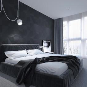 черно белая спальня интерьер идеи