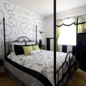 черно белая спальня обзор