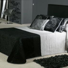 черно белая спальня обзор фото