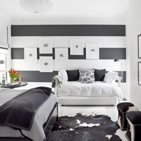 черно белая спальня виды идеи