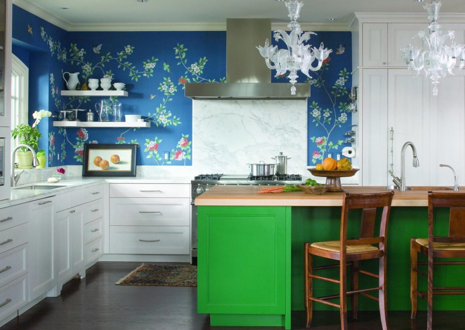 цвет стен на кухне фото декора