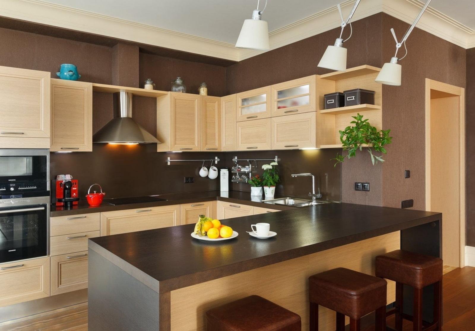цвет стен на кухне фото идеи