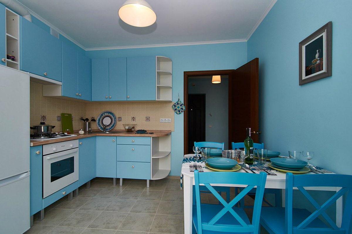 цвет стен на кухне фото оформление