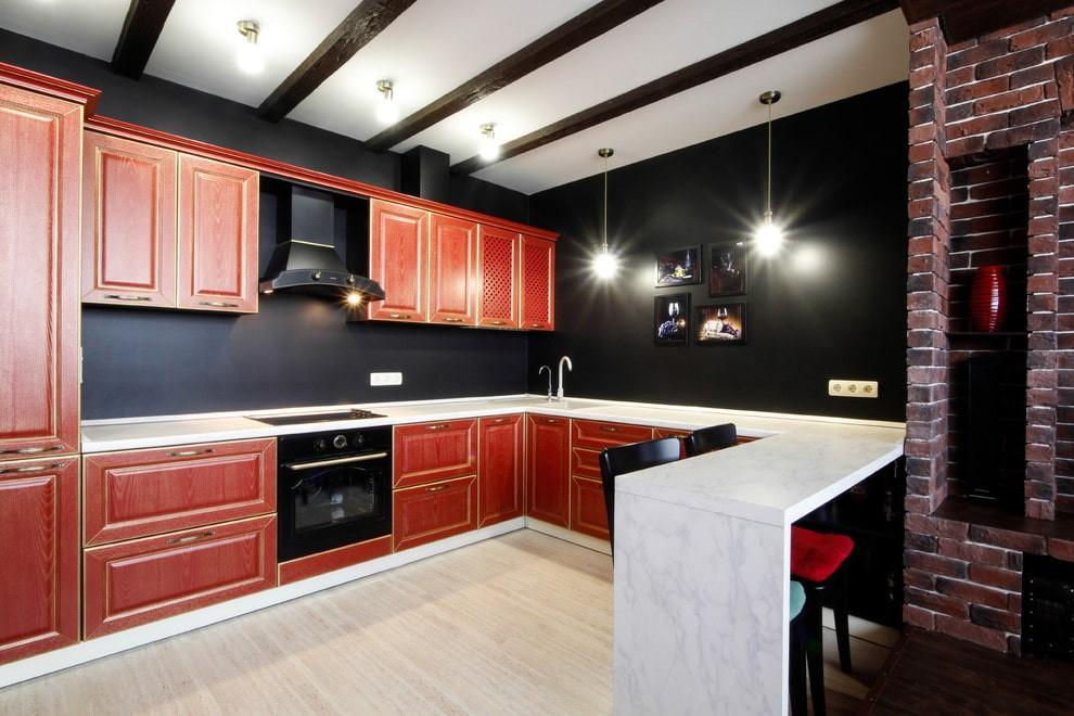 цвет стен на кухне фото вариантов