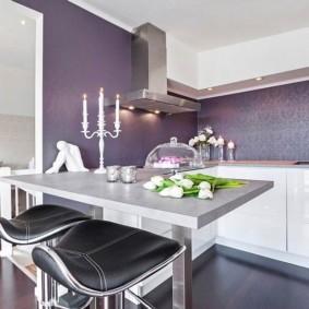 цвет стен на кухне фото варианты
