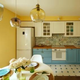 цвет стен на кухне оформление