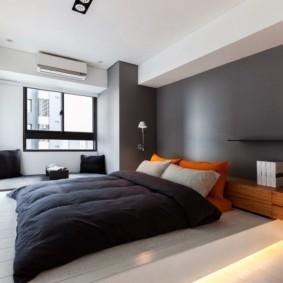 спальня в стиле минимализм цветовое решение