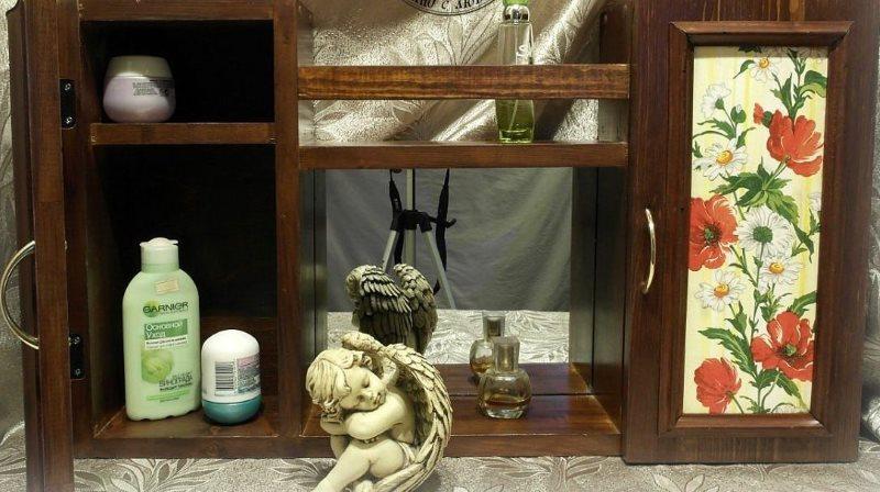 Декупаж туалетного столика для ванной в стиле шебби шик