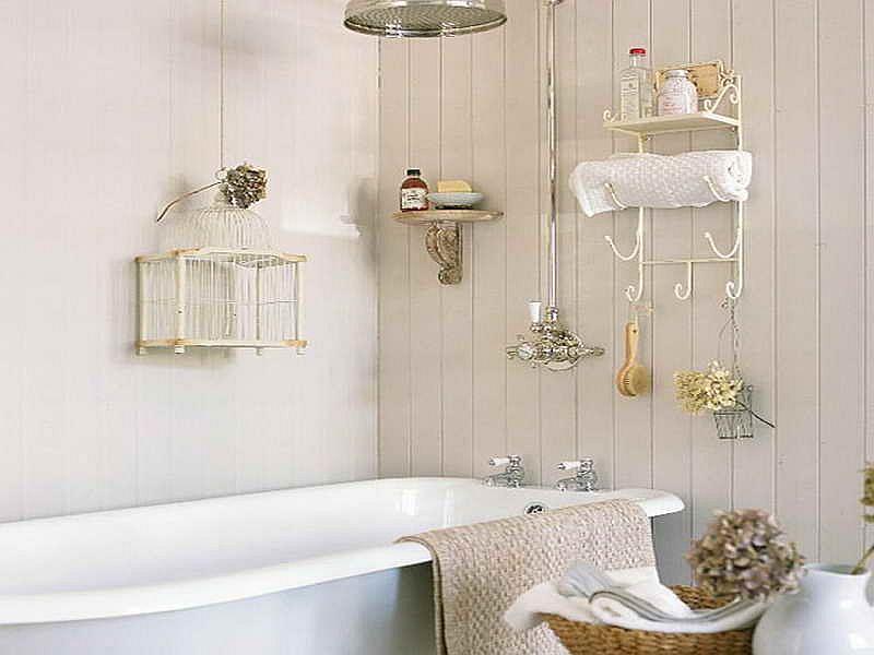 Декор ванной в стиле шебби шик