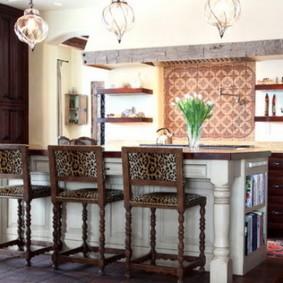 барные стулья для кухни декор идеи