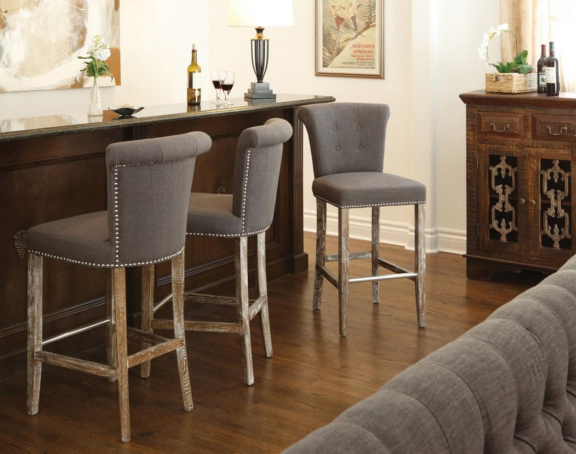 барные стулья с мягкой обивкой
