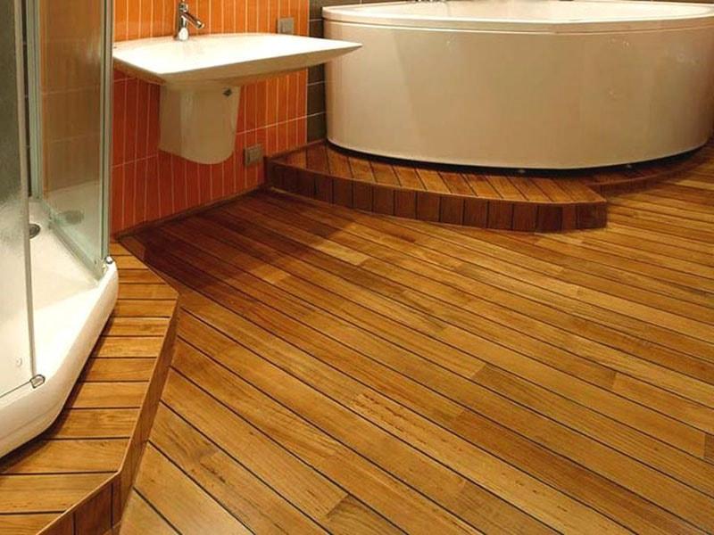 Дощатый пол ванной в деревянном доме