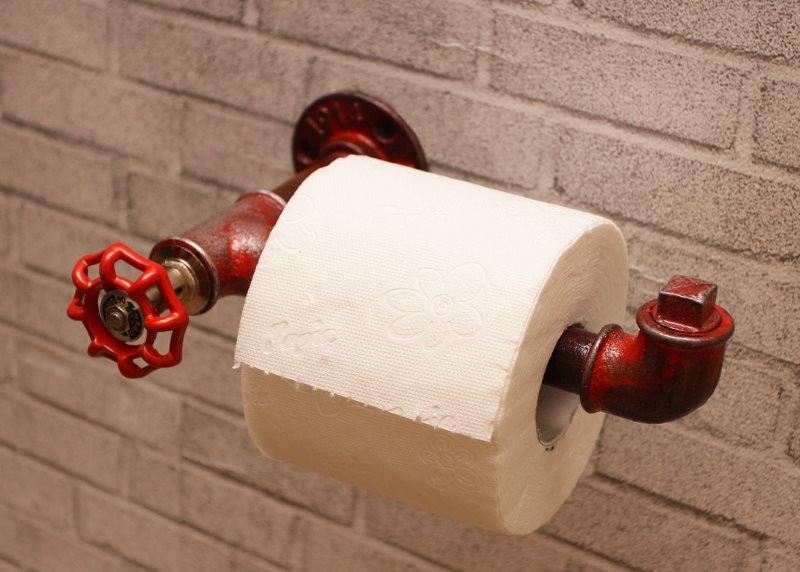 Держатель для туалетной бумаги в стиле лофт