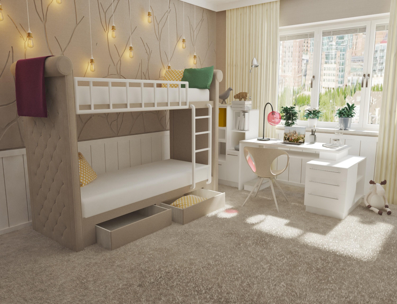 детская спальня 7 кв м