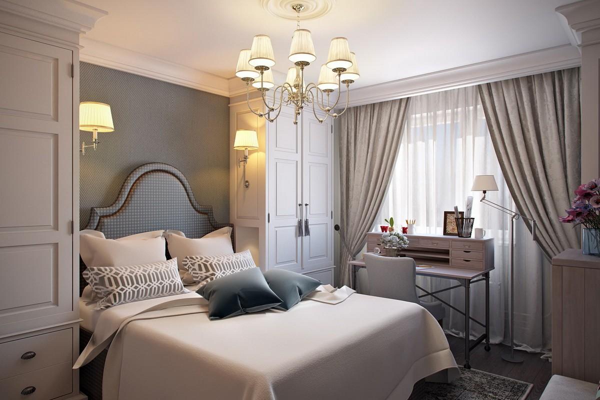 дизайн красивой спальни 12 кв м