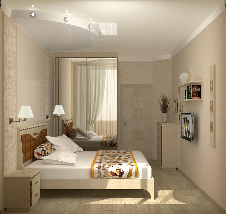 дизайн маленькой спальни 7 кв метров