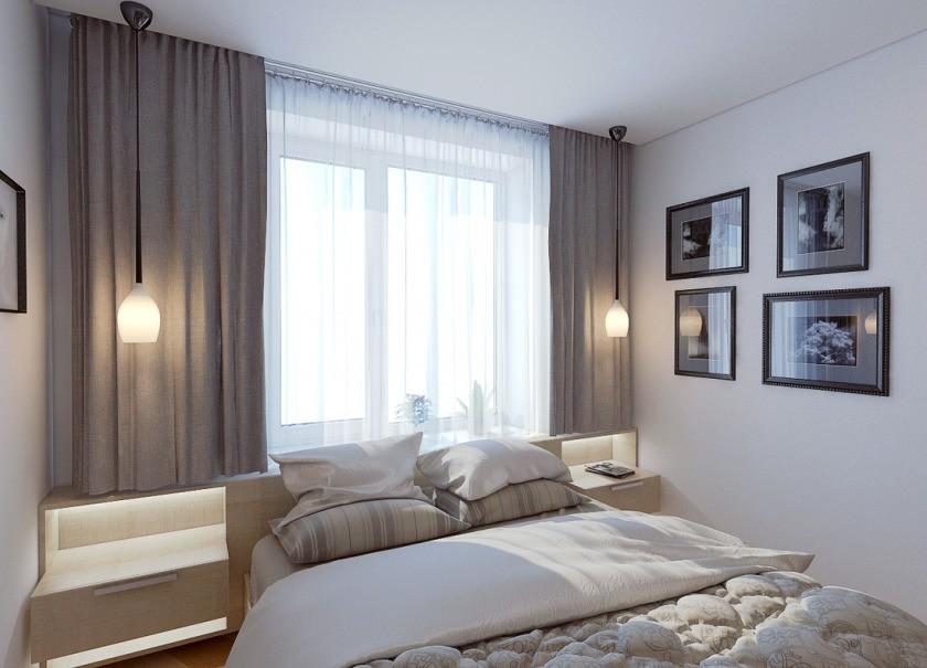дизайн спальни 7 кв м