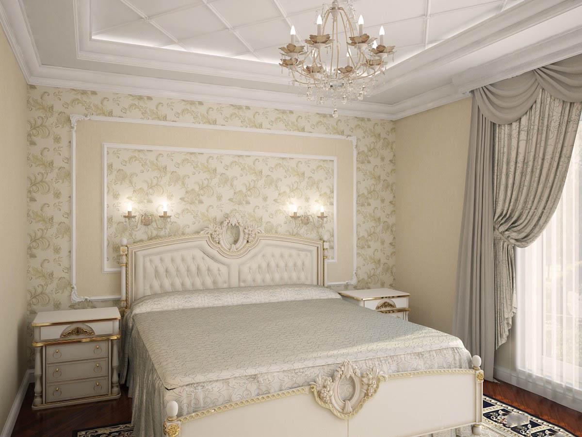спальня 7 кв классика
