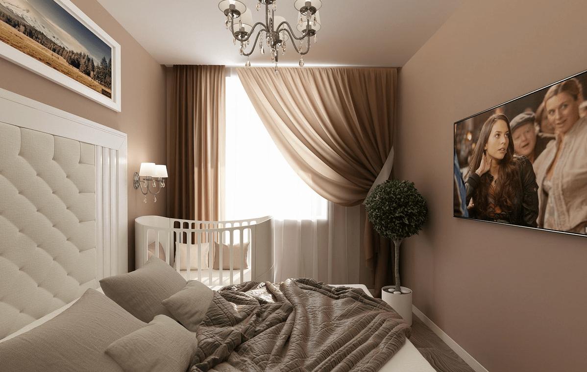 дизайн маленькой спальни в 7 кв ми