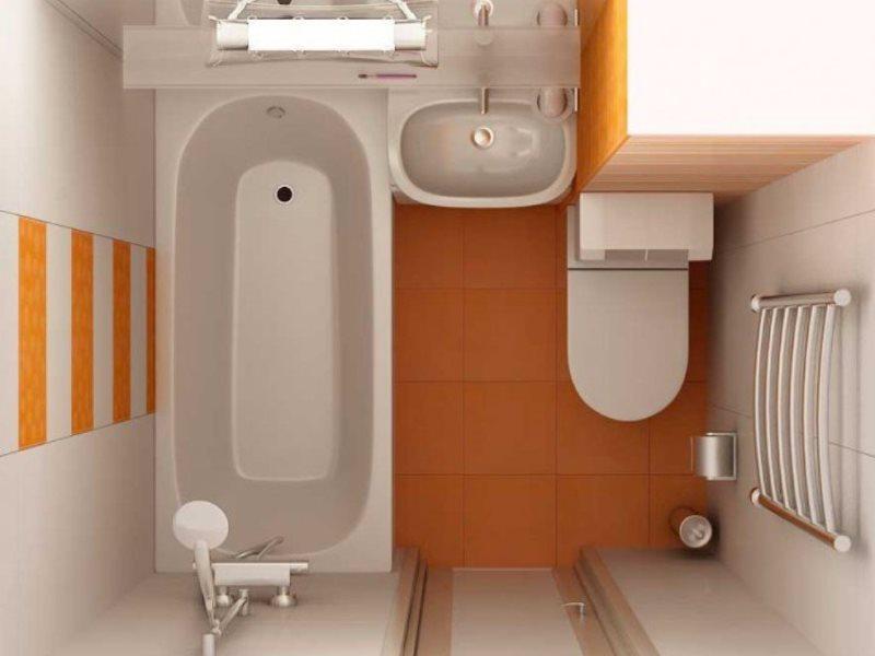 Дизайн-проект совмещенного санузла небольшой площади