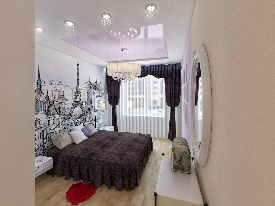 дизайн спальни 12 кв м освещение