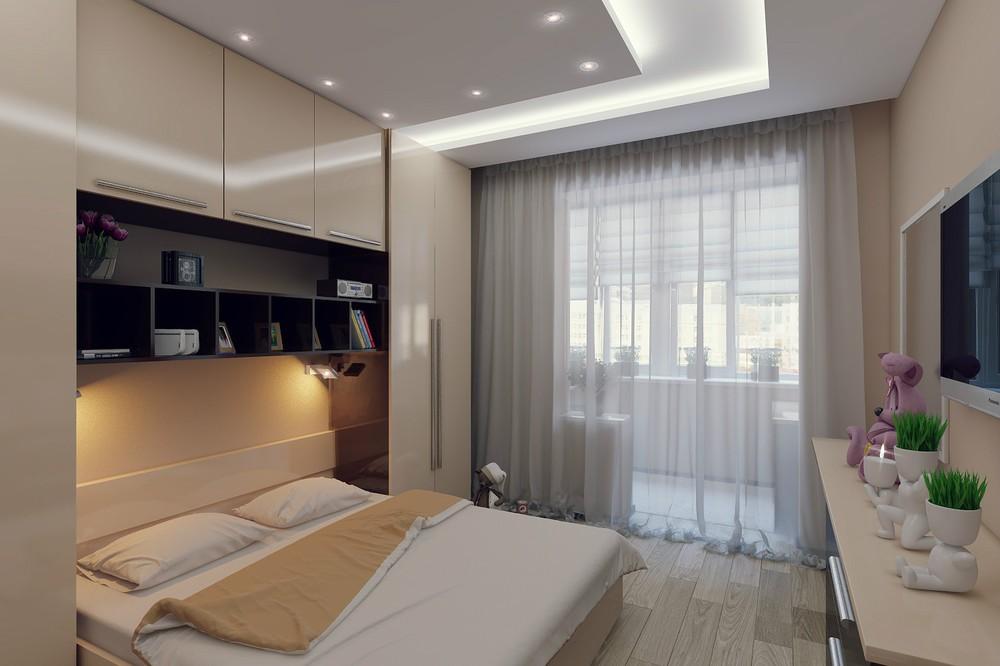 спальная комната в 7 кв м