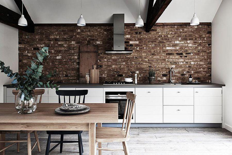 дизайн серо белой кухни