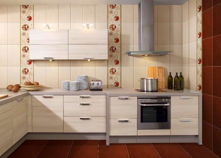 Облицовка стен кухни ПВХ-панелями под кафель