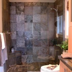 душевая кабина в ванной комнате дизайн
