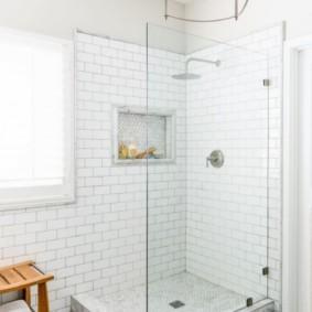 душевая кабина в ванной комнате дизайн фото