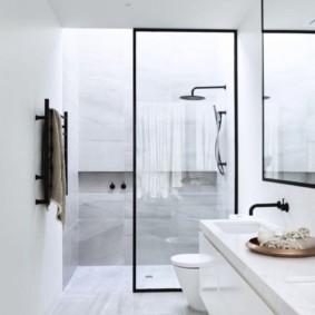 душевая кабина в ванной комнате идеи фото