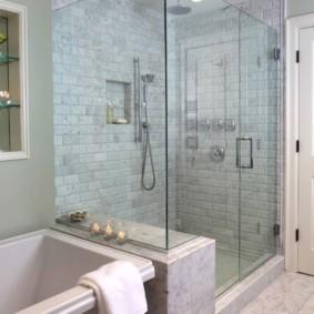 душевая кабина в ванной комнате интерьер идеи