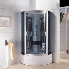 душевая кабина в ванной комнате декор фото
