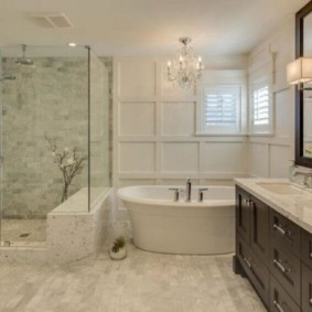 душевая кабина в ванной комнате декор идеи