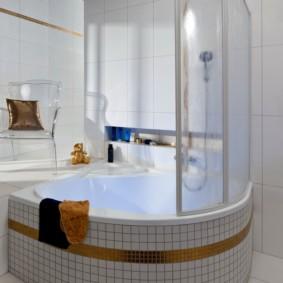 душевая кабина в ванной комнате фото декор