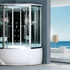 душевая кабина в ванной комнате фото идеи