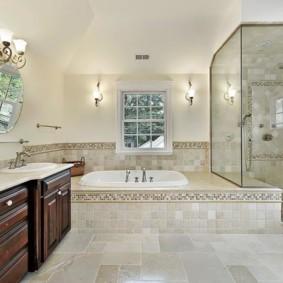 душевая кабина в ванной комнате фото интерьера