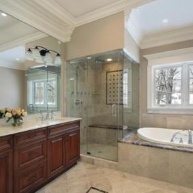 душевая кабина в ванной комнате фото оформления