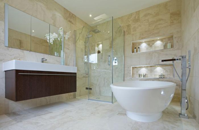 душевая кабина в ванной комнате идеи декор