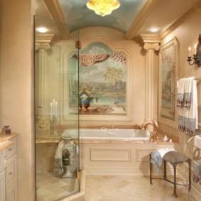душевая кабина в ванной комнате идеи оформление