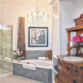 душевая кабина в ванной комнате интерьер фото