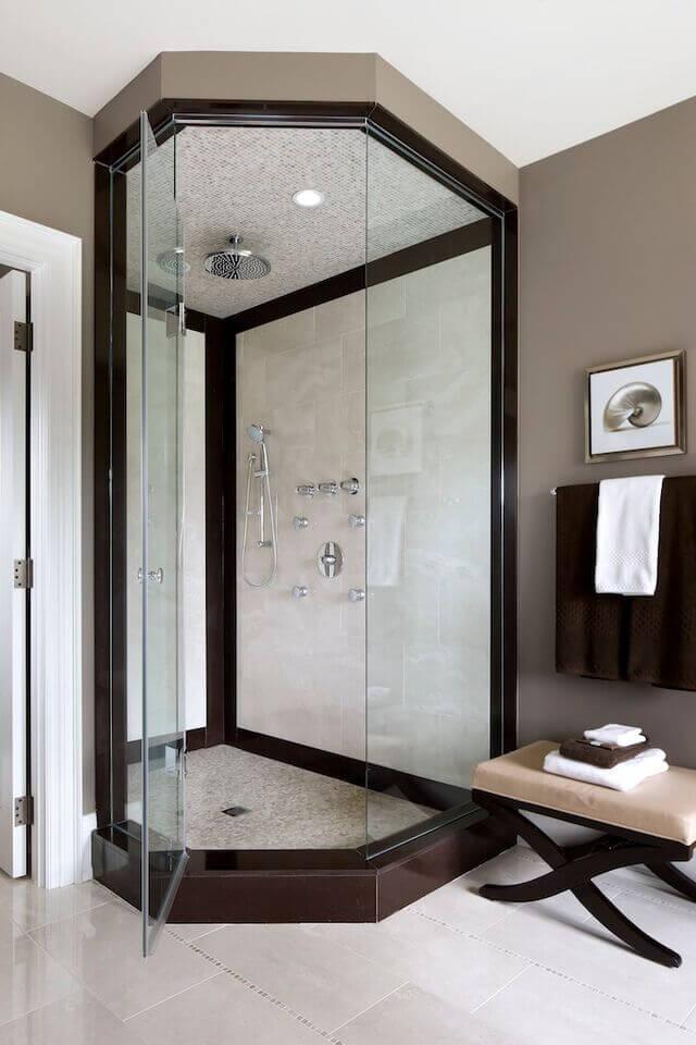 душевая кабина в ванной комнате интерьер