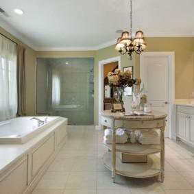 душевая кабина в ванной комнате оформление