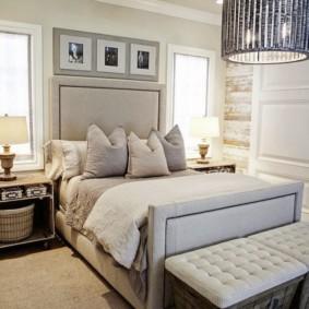два окна в спальне фото дизайн
