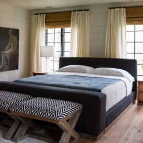 два окна в спальне фото дизайна