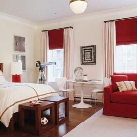 два окна в спальне идеи дизайн