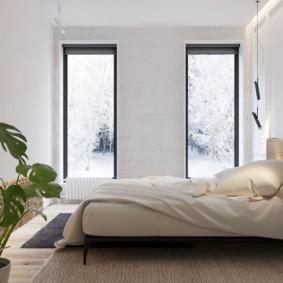 два окна в спальне идеи дизайна