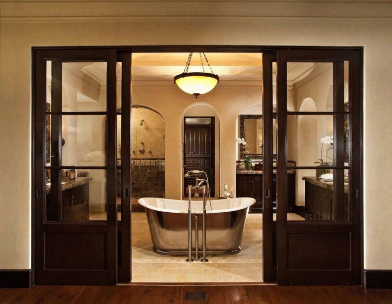Комбинированные двери раздвижного типа