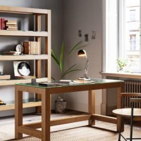 Деревянная мебель из брусьев для интерьера в эко стиле