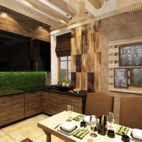 Декор кухни в стиле эко-лофт